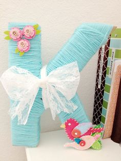 yarn wrapped letter, so easy and inexpensive!