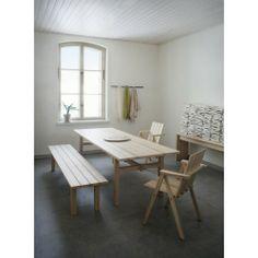 Contemporary table / oak / ash / rectangular ARKIPELAGO by Kari Virtanen Nikari Dining Bench, Contemporary, Interior Design, Architecture, Furniture, Tables, Home Decor, Interior Designing, Interior