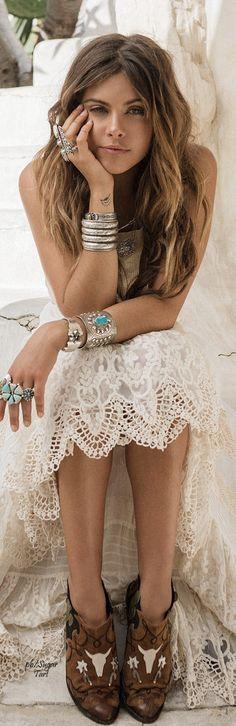 ╰☆╮Boho chic bohemian boho style hippy hippie chic bohème vibe gypsy fashion indie folk outfit╰☆╮