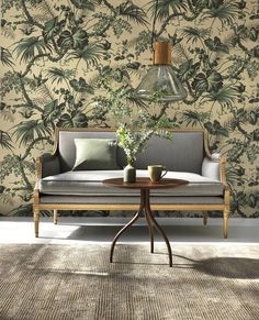 Lovely wallpaper from . I am so happy wallpaper have a renaissance. Today Stockholm and Österlen showroom are open , welcome ! Happy Wallpaper, Old Wallpaper, Print Wallpaper, Amazing Wallpaper, Interior Wallpaper, Laminated Fabric, Custom Carpet, Outdoor Furniture Sets, Outdoor Decor