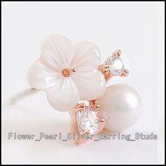 Cute Earrings, Women's Earrings, Diamond Earrings, Earring Crafts, Earring Studs, Silver Pearls, Polymer Clay Earrings, Cheap Fashion, Ocean