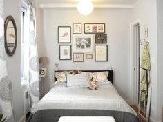 Small Bedroom Design Decorating with Photo Frame Decor
