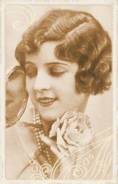 1920's hair. I always wonder how women styled their hair like this.