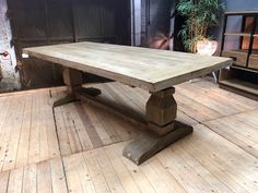 kloostertafel NWD teak wiegers XL Cosy Kitchen, Dining Room, Dining Table, Houses, Rustic, Furniture, Home Decor, Dinner Table, Eten