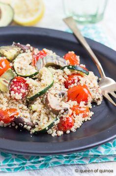 Grilled Vegetable Quinoa Salad | recipe on queenofquinoa.me | #glutenfree #vegan