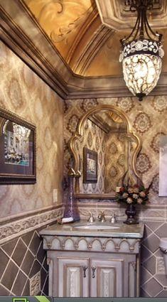 Luxury bathroom powder bath room