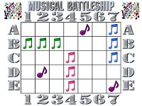 "In the Leafy Treetops the Birds Sing ""Good Morning"": MUSICAL BATTLESHIP—SONG(S) REVIEW GAME"