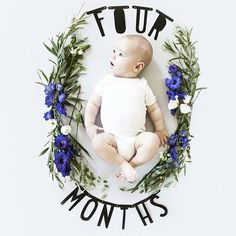 Floral or nature inspired baby photograph