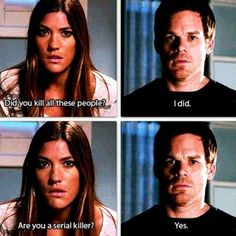 Dreaded this moment on Dexter! Now we await Season 8 finale. Debra Morgan, Dexter Morgan, Dexter Tv Series, Michael C Hall, Jennifer Carpenter, Nos4a2, Dimebag Darrell, Cinema, Series Movies
