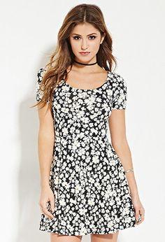 Floral Print Skater Dress | Forever 21 - 2000182868
