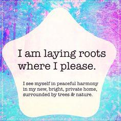 """""""#affirmation #affirmations #positivity #positivethinking #iam #loa #lawofattraction #energy #newhome #naturelovin #treehugger #reclamation #getoffmyland…"""""""