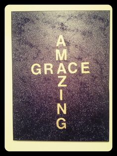 Amazing Grace quote with black/purple glitter by handmade91, $19.99