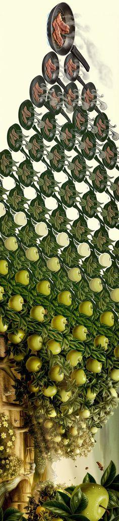 Homenaje a las figuras imposibles de Escher – Tago Art work