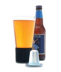 Dimple Pint: With this clever set of glassware, a cold brew is always within reach—no ice cubes needed. To use, pre-chill the magnetic inserts and attach one to the base of each glass before pouring your beverage of choice.