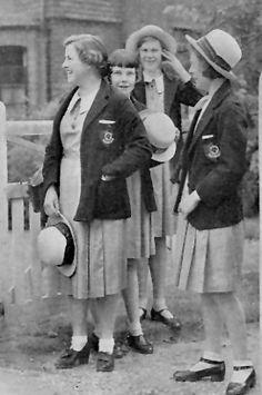 Image result for 1920s UK boarding school uniforms girls