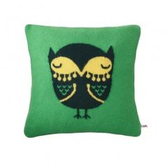 Donna Wilson designs whimsical items for children and adults that feature distinctive patterns, color combinations, and charming designs. The Owl Throw Pillow Cover is a simple square that features a sleepy owl at its center. The boldly colored pillow cover will make a striking accent on a sofa or child's bed, and its lambswool composition makes it an excellent choice for a snuggling session. Donna Wilson's Owl Throw Pillow Cover is an eye-catching accent that is sweet enough for kids to ...