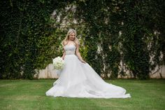 This white bridal bouquet was the perfect touch to Shelby's look!