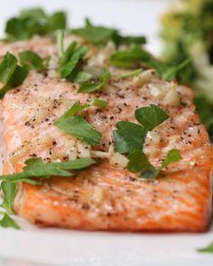 One-Pan Garlic Butter Salmon and Veggies | One-Pan Garlic Butter Salmon And Veggies