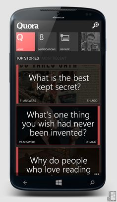 Quora Concept for Windows Phone