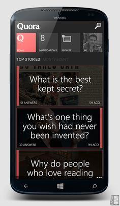 Quora Concept for Windows Phone