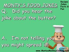 Jokes about cooking Nutella no-bake cheesecake with kids - from www.MontysMonkeyCooking.com