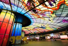 Formosa Boulevard station with its huge Dome of Light by Narcissus Quagliata - Kaohsiung, Taiwan