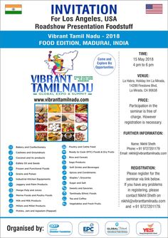 74 Best Vibrant Tamilnadu Global Expo and Summit - Food Edition 2018