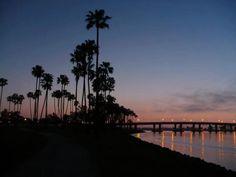 Bay Bridge after sunset.