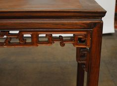 19th Century Chinese Rosewood Altar Console Table | From a unique collection of antique and modern console tables at https://www.1stdibs.com/furniture/tables/console-tables/