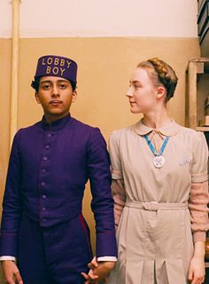 Zero and Agatha from Grand Budapest Hotel. Costume Designer: Milena Canonero
