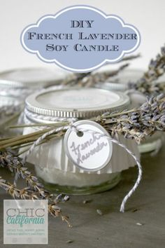 DIY French Lavender Soy Candle | 10 DIY Soy Candles You Will Love, see more at http://diyready.com/diy-soy-candles-10-addictive-scents-you-will-love