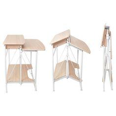 studio designs Calico Designs Stow Away Desk Furniture Logo, Home Furniture, Maple Furniture, Furniture Dolly, Stow Away, Craft Desk, White Desks, Craft Storage, Easy Storage
