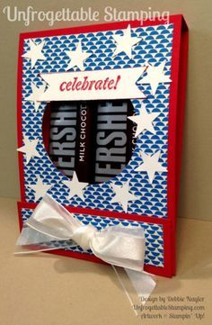 Unfrogttable Stamping | Fabulous Fourth of July red, white and blue candy favor