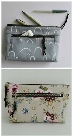Fashion Print Coin Purse Makeup Bag Zip Canvas Purse Wallet Pocket Handbag
