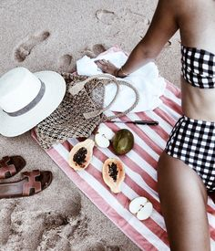 Gingham High Waisted Swimsuit