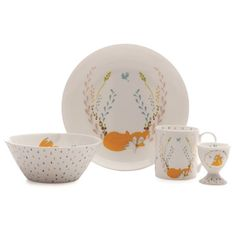 Maxwell & Williams Cashmere Forest Garland 4 Piece Breakfast Set Gift Boxed   Dinner Sets - House