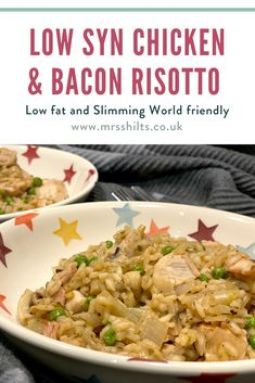 A low syn Slimming World friendly recipe for chicken bacon risotto with onions, mushrooms and peas. Perfect for cold autumnal evenings. Quick Pasta Recipes, Chicken Recipes, Chicken Bacon, Chicken Life, Easy Slimming World Recipes, Reduce Appetite, Eating Eggs, Coffee Benefits
