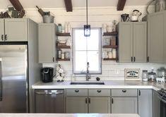 White Concrete Countertops, Kitchen Cabinets, Home Decor, Decoration Home, Room Decor, Cabinets, Home Interior Design, Dressers, Home Decoration