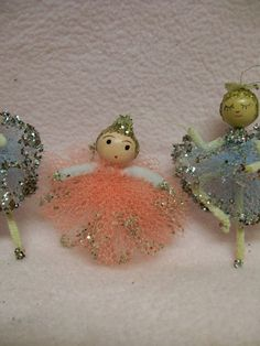 Ballerina Christmas Ornaments  Vintage Little by FabVintageEstates, $5.50