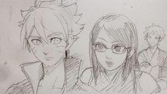 Team Konohamaru: Boruto, Sarada & Mitsuki Fanart