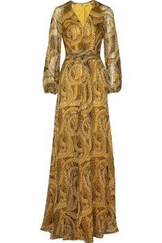 IssaPrinted vestido de seda chiffon