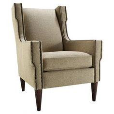 Quinn, Quinn Chair in Beige, Dining Room Table Sets, Bedroom Furniture, Curio Cabinets and Solid Wood Furniture - Model - Home Gallery Stores Furniture Solid Wood Furniture, Accent Furniture, Bedroom Furniture, Contemporary Armchair, Wingback Chair, Home Living Room, All Modern, Chair Design, Accent Chairs