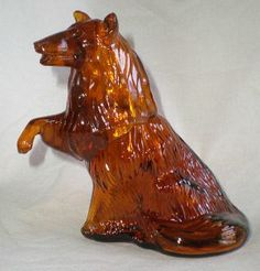 Vintage Avon Faithful Collie Dog Decanter Bottle Amber Glass - $15.00 : Vintage Collectibles Sewing Patterns Postcards Aprons Ephemera