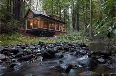 Rustic creek side cabin. sounds like home to me.