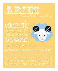 ARIES Zodiac Art Print