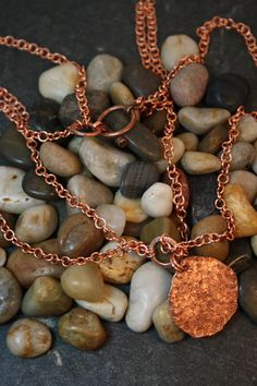Items similar to Copper Hammered Pendant on a Copper Handmade Chain - Upcycled Recycled Repurposed on Etsy Gold Necklace, Copper, Necklaces, Chain, Pendant, Handmade, Etsy, Jewelry, Gold Pendant Necklace