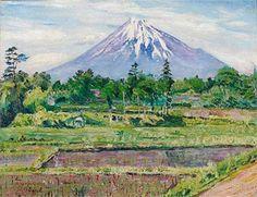 David Burliuk (1882 1967) | Realism | Mount Fuji - 1922
