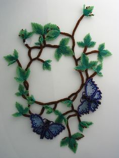 Huib Petersen. Woven Beadwork jewelery