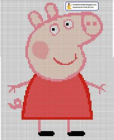 Peppa Pig cross stitch. It looks like you have to figure out the thread colors yourself, but it shouldn't be too difficult.