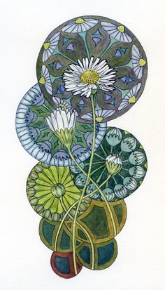 art nouveau--love this--maybe poppies instead for midaxillary line rib tattoo?